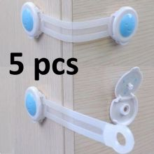 5 PCS KIDS CHILD TODLER BABY SAFETY CABINET DOOR FRIDGE DRAWER CUPBOARD LOCK